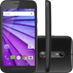 """[Americanas] Smartphone Motorola Moto G 3ª Geração Dual Chip Desbloqueado Android 5.1 Tela HD 5"""" Memória Interna 8GB 4G Câmera 13MP Processador Quad Core 1.4GHz - Preto R$719"""