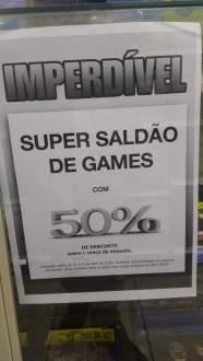 [Americanas] Games com 50% de desconto.