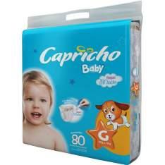 [Walmart] Pacote de Fraldas com 100/90/80  Unidades Tamanhos P/M/G. Baby Super Jumbo Capricho