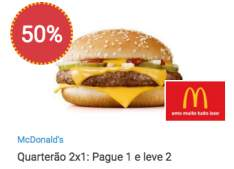 [ MC Donald's ] Quarteirão com queijo - Pague 1 leve 2