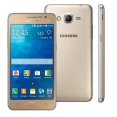"""[Casa  Bahia] Smartphone Samsung Galaxy Gran Prime Duos G531H Dourado com Dual Chip, Tela de 5"""", Câmera 8MP, Android 5.1 e Processador Quad Core de 1.3Ghz por R$ 626"""