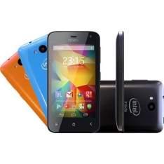 """[Sou Barato] Smartphone Qbex Xgo HS011 Dual Chip Desebloqueado Android 4.4 Tela 4""""IPS 4GB 3G Wi-fi Câmera 5MP - Preto - R$280"""