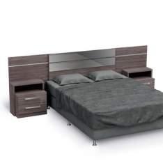 [Mobly] Cabeceira Com Criado-Mudo para Box Casal & Queen B290 Noce Kappesberg por R$ 470
