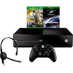 [SUBMARINO] Console Xbox One 500GB + 3 Jogos + Headset com Fio + Controle Wireless R$ 1.529,90