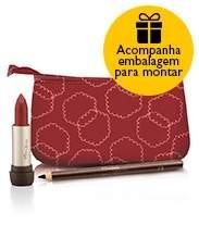 [Natura] Conjunto Exclusivo Natura Aquarela - Lápis Olhos + Batom + Nécessaire + Embalagem Desmontada - R$39