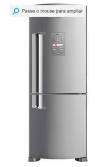 [SUBMARINO] Geladeira / Refrigerador Brastemp Inverse Frost Free BRE50NK 422L Evox