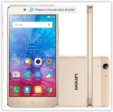 """[Submarino] Smartphone Lenovo Vibe K5 Dual Chip Android Tela 5"""" 16GB 4G Câmera 13MP - Dourado por R$ 768"""