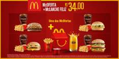 [MCDONALDS] MCOFERTA MÉDIA CLÁSSICA + MCLANCHE FELIZ - R$34