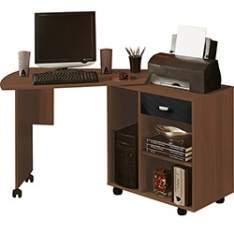 [AMERICANAS] Mesa para Computador Flex 1 Gaveta Imbuia/Preto - Artely - R$115