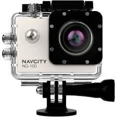 [Shoptime] Câmera Esportiva Navcity Prata 12MP Filmagem Full HD 30M à Prova d'água + Selfie Stick por R4 179