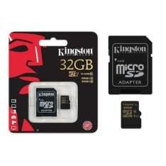 [Americanas] Cartao De Memoria Classe 10 Kingston Sdca10/32gb Micro Sdhc 32gb Com Adaptador Sd Uhs-I R$ 55