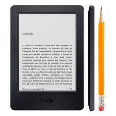 """[Ricardo Eletro] Kindle E-Reader 7ª Geração AO0416, Tela 6"""" Sensível ao Toque, 4GB de memória, Wi-Fi - Amazon por R$ 190"""