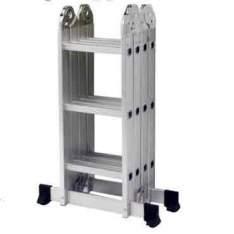 [Ricardo Eletro] Escada Multifuncional 5131 4 x 3 em Alumínio 12 degraus capacidade 150 Kg - Mor - R$240