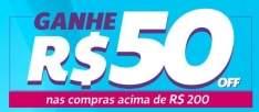 [Netshoes] R$50 off em compras acima de R$200