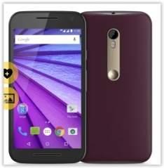 """[Saraiva] Smartphone Motorola Moto G 3ª Geração Preto Cabernet 4G Tela 5"""" Android 5 Câmera 13Mp Dualchip 16Gb por R$ 807"""