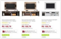 [Americanas] Rack com Painel Gallardo  MDF/MDP - Classic Home - em 3 Cores por R$ 153