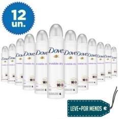 [ELETROSHOPPING] 12 Desodorantes Aerosol Dove Invisible Dry 100g por R$104