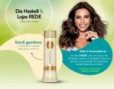 [Lojas Rede] Shampoo Haskell Mandioca GRÁTIS na lojas Rede!!!