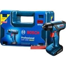 [Walmart] Furadeira e Parafusadeira à Bateria Bosch GSR1000 Smart 12V com Maleta por R$ 199