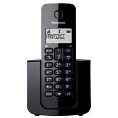 [EFACIL] Telefone sem Fio KX-TGB110LBB Preto com Identificador de Chamadas - Panasonic POR R$ 94,32
