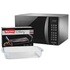 [EFACIL] Micro-ondas Style Grill 30 Litros NN-GT684SRUK Inox 110V Panasonic + Assadeira Lasanheira 5,3L POR R$529,56