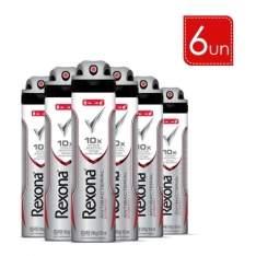 [Lojas rede] Kit 6 und Desodorante Aerosol Rexona Men Antibacteriano (Entrega somente para MG) com 35% de dinheiro de volta (sai por R$55)