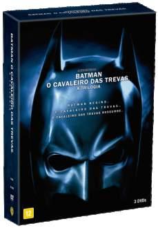 [Saraiva] DVD Batman: o Cavaleiro Das Trevas - A Trilogia - 3 DVDs - R$20