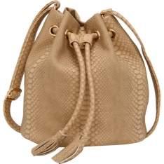 [Americanas] Bolsa Saco Butterfly Croco - Bege - Tamanho Único por R$ 70