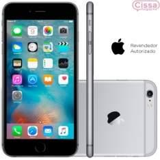 """[CISSA MAGAZINE] Smartphone Apple iPhone 6S 64GB Desbloqueado Cinza Espacial iOS 9, Câmera 12MP, Tela 4.7"""", Processador Apple A9 - R$3200"""