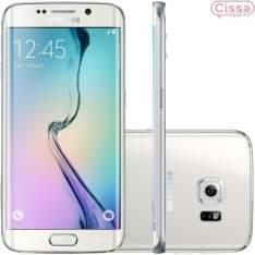 """[CISSA MAGAZINE] Smartphone Samsung Galaxy S6 Edge G925I 32GB Desbloqueado Branco Android 5.0 Lollipop, Memória Interna 32GB, Câmera 16MP, Tela 5.1"""" - R$2200"""