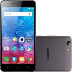 """[Americanas] Smartphone Lenovo Vibe K5 Dual Chip Android Tela 5"""" 16GB 4G Câmera 13MP - Grafite No CC Americanas por R$ 707"""