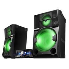 [EFACIL] Mini System Shake 99 CD Duplo, USB, Bluetooth, NFC, Sound Pressure Horn, DJ Effect, Função Futebol, 4000W RMS - Sony POR R$ 4699