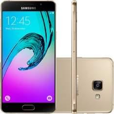 """[Submarino] Smartphone Samsung Galaxy A5 2016 Dual Chip Desbloqueado Android 5.1 Tela 5.2"""" 16GB 4G 13MP - Dourado (NO CC Submarino) por R$ 1280"""