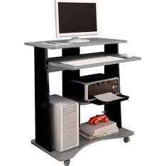 [Americanas] Mesa para Computador Star Cinza/Preto - Artely por R$  99