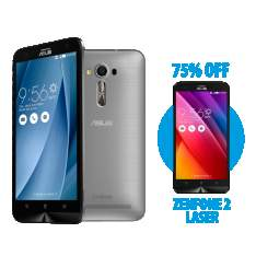 [Asus Store] Zenfone 2 Laser 5.5 Prata + Zenfone 2 Laser 5.5 Dourado por R$1.199