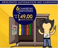 [CZ10] 6 camisetas com estampas legais com frete grátis por R$ 150