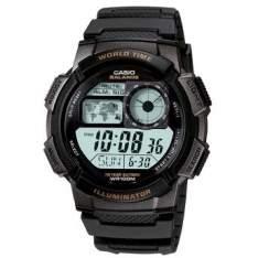 [WALMART] Relógio Masculino Casio Digital, Pulseira e Caixa em Resina, 5 Alarmes Com Soneca, com Iluminação, Resistente à Água 100m - AE-1000W-1AVDF - R$116