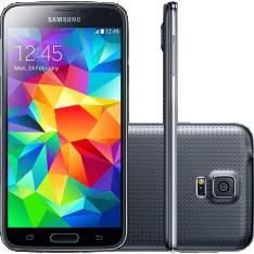 """[Americanas] Smartphone Samsung Galaxy S5 Desbloqueado Android 4.4.2 Tela 5.1"""" 16GB 4G Wi-Fi Câmera 16 MP - Preto por R$ 1224"""
