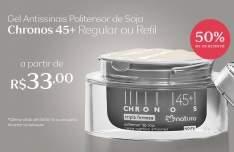 [Natura] Gel Creme Antissinais Politensor de Soja Noite 45+ Chronos - 50g - R$ 33