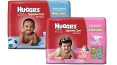 [Americanas]  Kit 3 Fraldas Huggies Supreme Care Menino/Menina M(240uni) /G(192uni) /XG(156) /XXG(156) - por R$130
