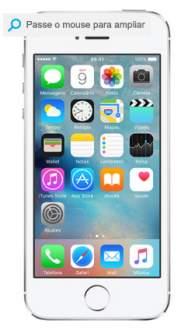 "[SUBMARINO] iPhone 5S 32GB Prata Tela 4"" IOS 8 4G Câmera 8MP- Apple"