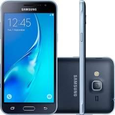 [sou barato] Smartphone Samsung Galaxy J3 Dual Chip Desbloqueado Android 5.1 Tela 5'' 8GB 4G Wi-Fi Câmera 8MP - Preto R$ 629,00