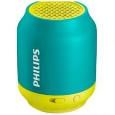 [RICARDO ELETRO] Caixa de Som Bluetooth Portátil 2W, Bateria Recarregável Integrada c/ Até 6 horas de Duração, Verde e Amarelo, BT50AX/78 - PHILIPS - R$75