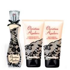 [ÉPOCA COSMÉTICOS] Signature Eau de Parfum Christina Aguilera - Kit Perfume Feminino 30ml + Gel de Banho 50ml + Loção Corporal 50ml - R$80
