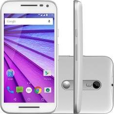 """[Shoptime] Smartphone Motorola Moto G 3ª Geração Ds Colors HDTV Dual Chip Desbloqueado Android 5"""" 16GB Wi-Fi Câmera 13MP - Branco por R$ 755"""