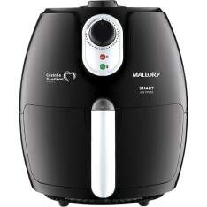 [Americanas] Fritadeira Elétrica Mallory Smart Air Fryer 2,3L com Livro de Receitas - Preta por R$ 225