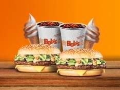 [BOB'S] 2 BIG BOB PICANHA P + 2 REFRIGERANTES M + 2 CASQUINHAS POR R$34