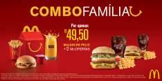 [MC DONALDS] 2 (duas) McOfertas Médias (dentre as opções: Big Mac, McChicken, Cheddar e Quarterão) e um McLanche Feliz - R$ 49,50