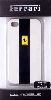 [SARAIVA] Capa Rígida Ferrari Linha Gtr Branca Para iPhone 4/4s