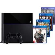 [Americanas] Console PS4 500GB c/ 4 Jogos + 1 ano de garantia - R$2.200